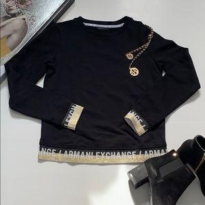 Armani exchange black sweatshirt size S